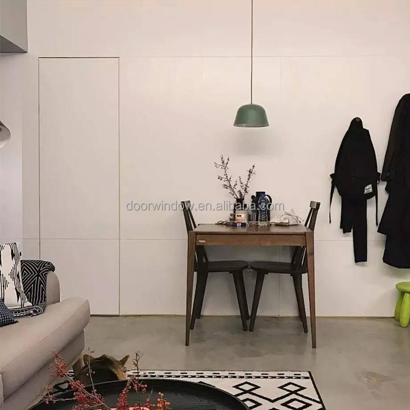 Doorwin hot sale secret flush door with wood carving design invisible white color main door
