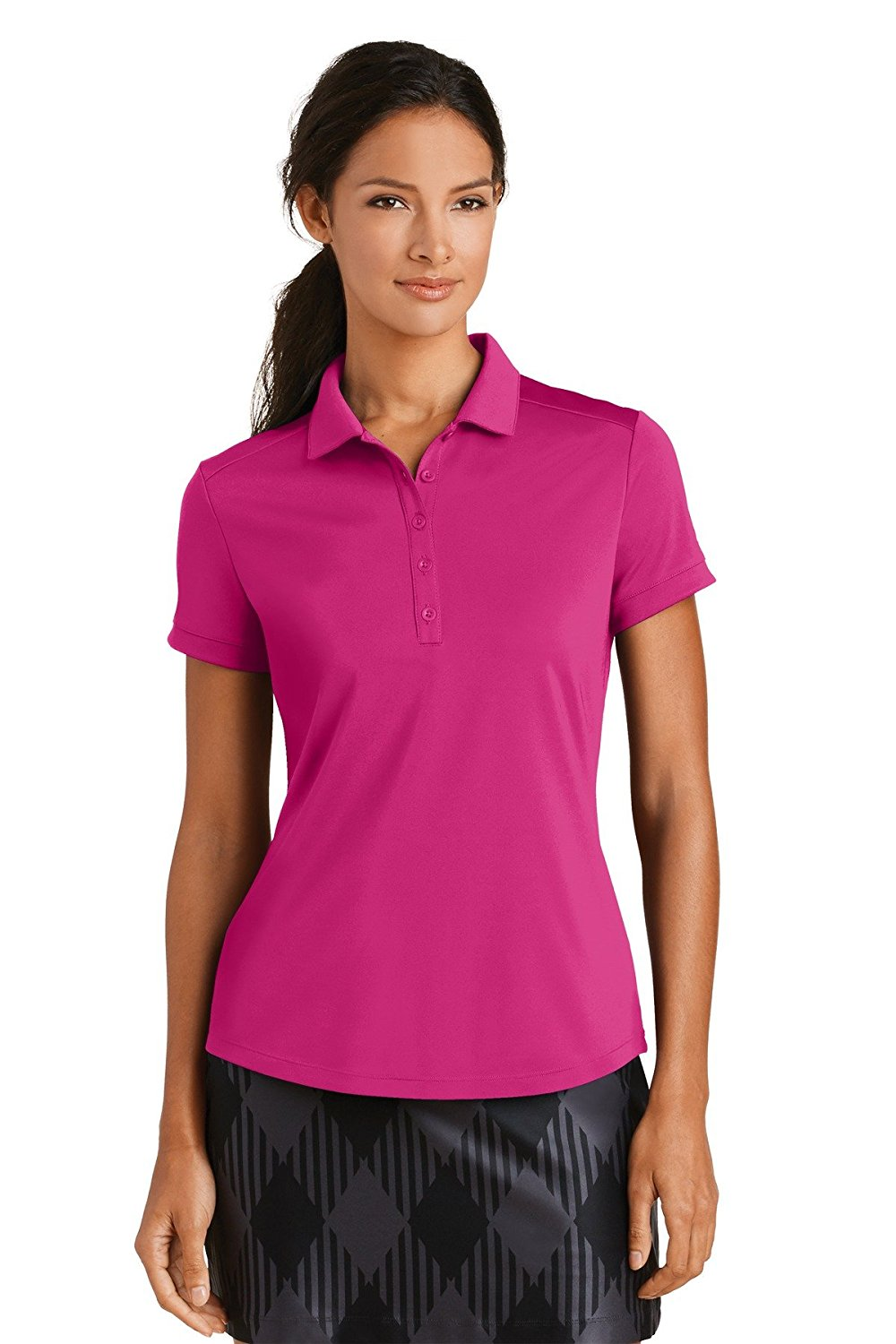 NEW Nike Golf Ladies Dri-FIT Smooth Performance Modern Fit Polo. 811807. (XX-Large, Sport Fuschia)