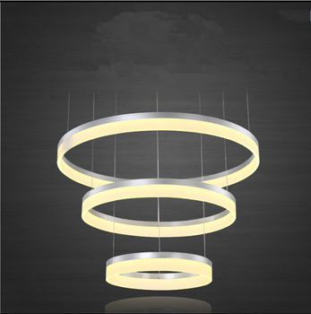 Luxury Led Light Modern Round Chandelier For Home High Ceiling Decoration