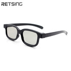 High Quality Real D Circular Polarized 3D Glasses Used at 3D TV Cinema