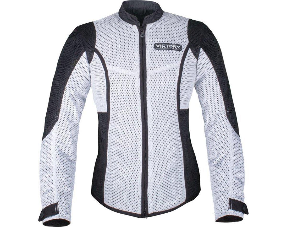 Victory Motorcycles Women's White Lite Mesh Motorcycle Jacket (Medium)