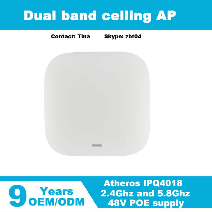 Atheros IPQ4018 chipset and dual band access point wireless ceiling AP