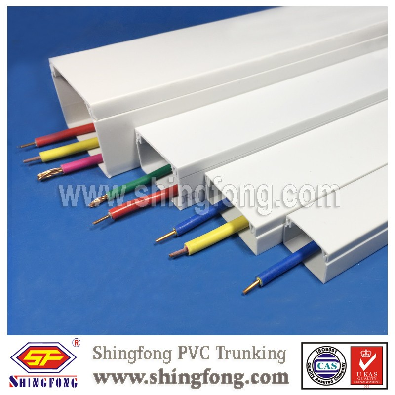 Electric Engineering Pvc Wire Cable Ducts Plastic Cable Trunking And ...
