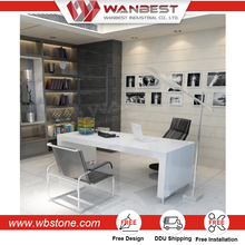 Modern White High Gloss Computer Office Table Manager Ceo Desk