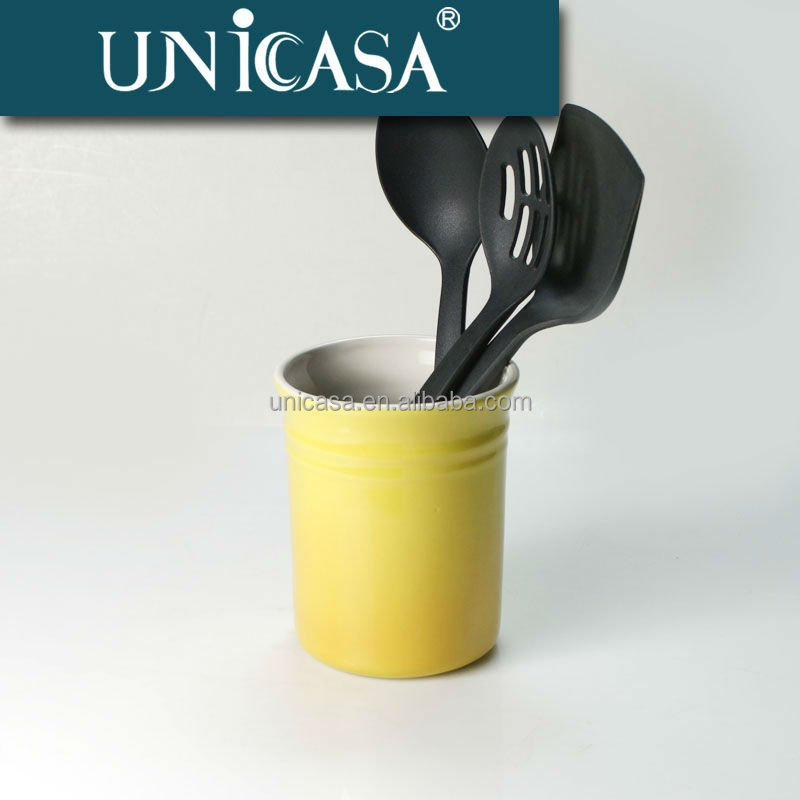 Factory price Wholesale UNICASA kitchen ceramic utensil holder/jars canisters