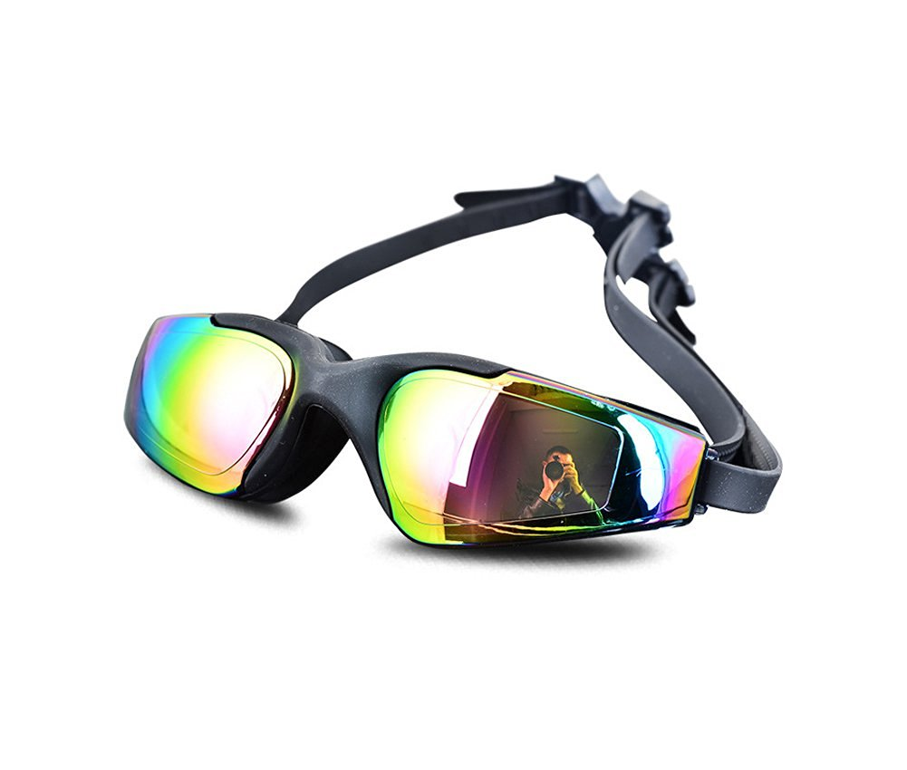 Swimming Goggles - Anti-fog Mirrored Silicone Seal Watertight Swim Goggles - With Long Lasting Anti Fog Technology for Women and Men - With Uv Protection Plating Glasses - Soft and Durable Silicone Head Strap with Easy to Adjust Head-strap - Come with Free Earplugs and Goggle Box - 100%