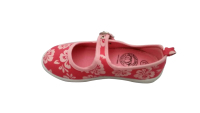 flower printing buckle strap elegent canvas shoes for girl