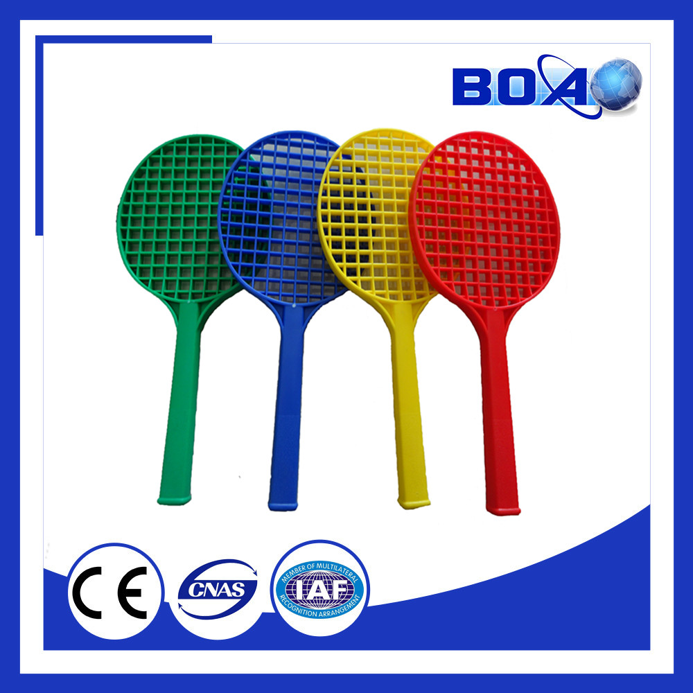Durable Moulded Plastic Long Racket Colorful
