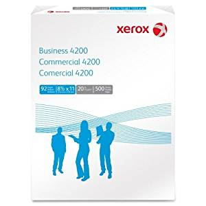 "Xerox Business 4200 Copy Paper 20# 92 Bright White 3HP, 8.5"" x 11"", 500 Sheets/Ream, 10 Reams/Ctn (3R2641)"