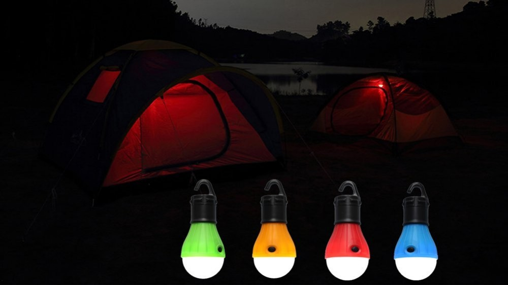 Portable Led Tent L& 8MM 3 Leds Super Bright With a Hook to Hang on Tent : led tent lamp - memphite.com