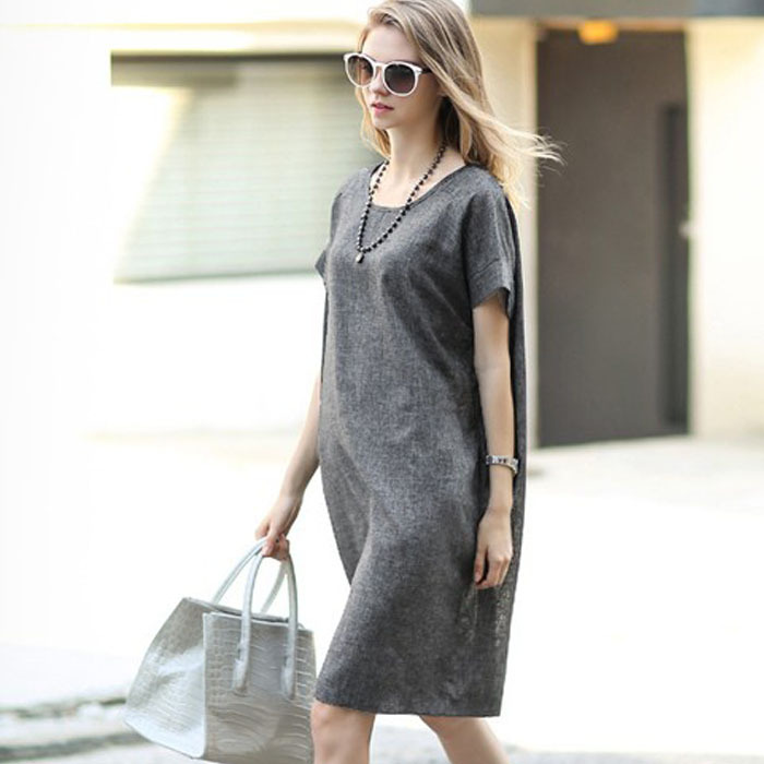 cedc24aa099db Get Quotations · Brand Style Linen Maternity Dresses Clothes For Pregnant Women  Clothing O-neck Pregnancy Wear Short