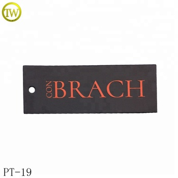 Promotion printed logo small jewelry price tag clothing hang tag maker