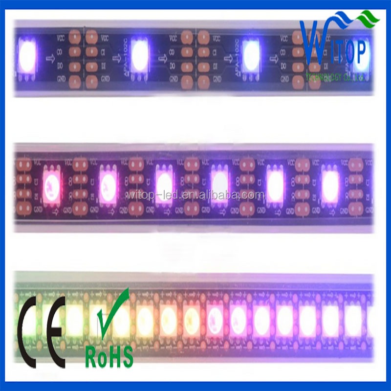 Outdoor dream color addressable dc5v apa102 144 led pixel strip light ip65 67 68