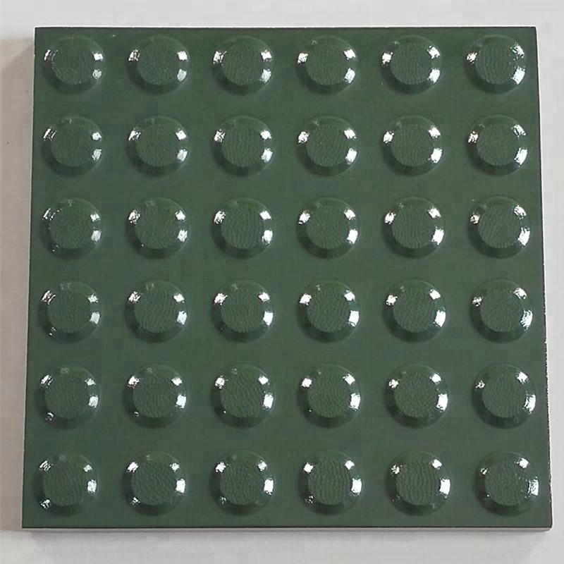 ceramic tactile tiles for blind guidance with direction