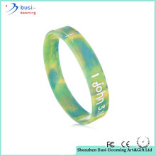 Party Supplies Colorful Cheap Camo Printed Silicone Wristband Bracelet