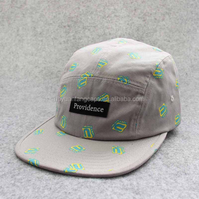 custom printing flat bill 5 panel cap <strong>hat</strong> with woven lable