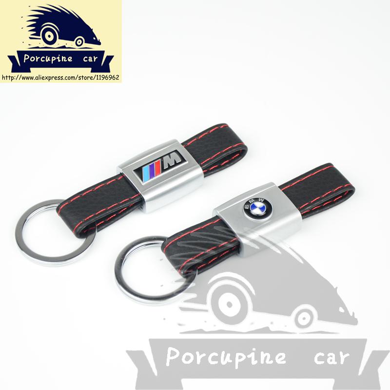 Автомобиль кожа автомобильные логотип брелок для BMW e46 e39 e90 e60 e36 f30 f10 e34 x5e53 e30 f20 черный кожаный брелок, Автомобиль - стайлинг