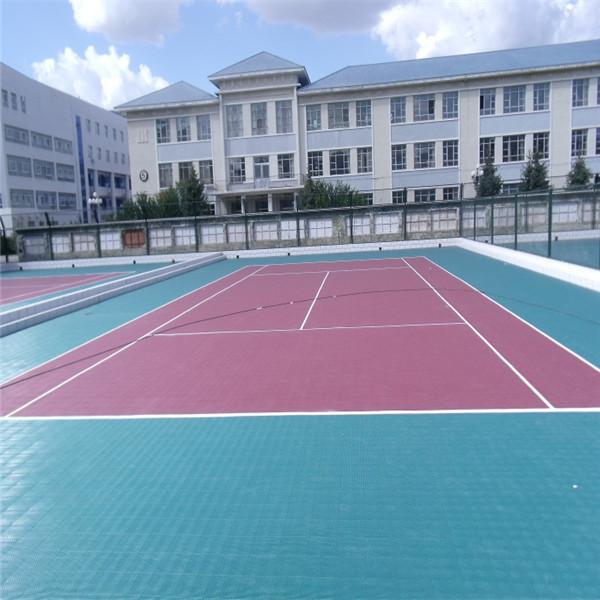 Pp interlocked noise reduction flooring for basketball for Basketball court installation cost
