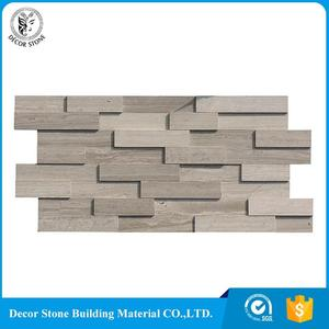 Chinese wooden grey marble slate plate natural stone veneer / flexible sheets With Good Service