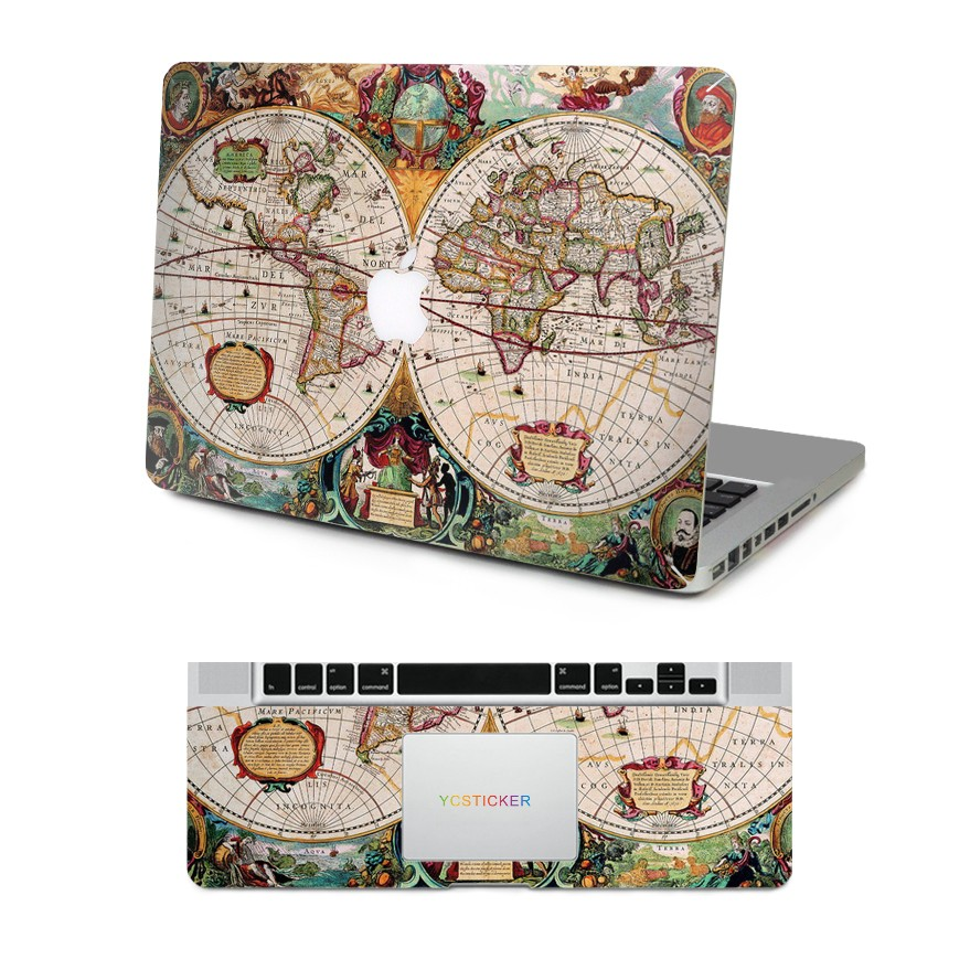 New design decorative skin laptop top and wrist pad world map decal new design decorative skin laptop top and wrist pad world map decal waterproof stickers for macbook gumiabroncs Images