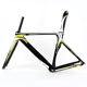2017 SHOCK PRICE Oem Aero Design All Flat Welding Lightpaint Road Aluminum Bicycle Frame With Most Popular Tapered 42*52mm Head