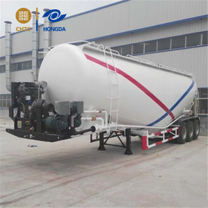 powder material tank trailer for cement, fly ash and other kinds of powder material transportation