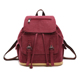 Canvas Drawstring Bagpack Vintage Casual Unisex Canvas Backpack Travel Back Pack