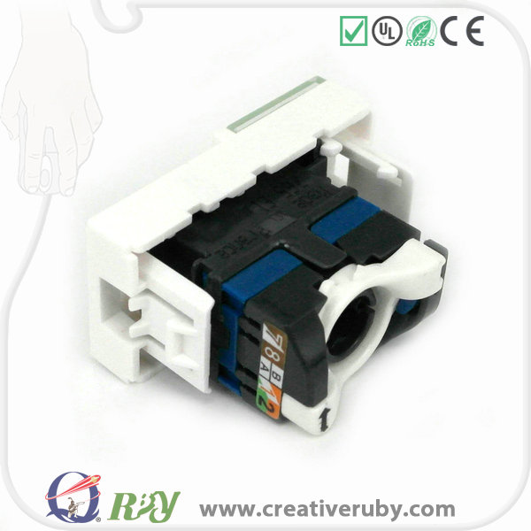 High quality Legrand type Cat6 utp keystone jack