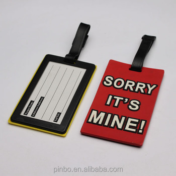 Pvc Luggage Tag Template To Print Sample,soft Pvc Luggage Tag Hotel Luggage  Tag,