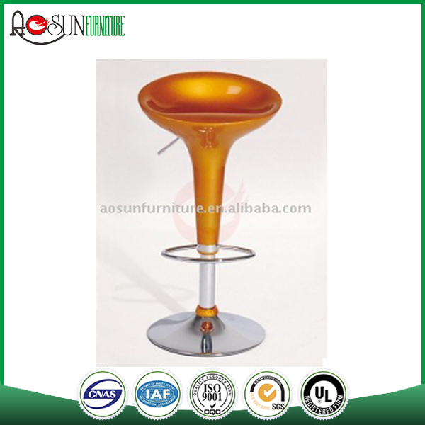 Bar furniture set supplier ISO 9001 certified Plastic red bar stool