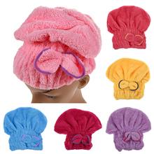 Ručník na vlasy s gumou ve stylu turbanu