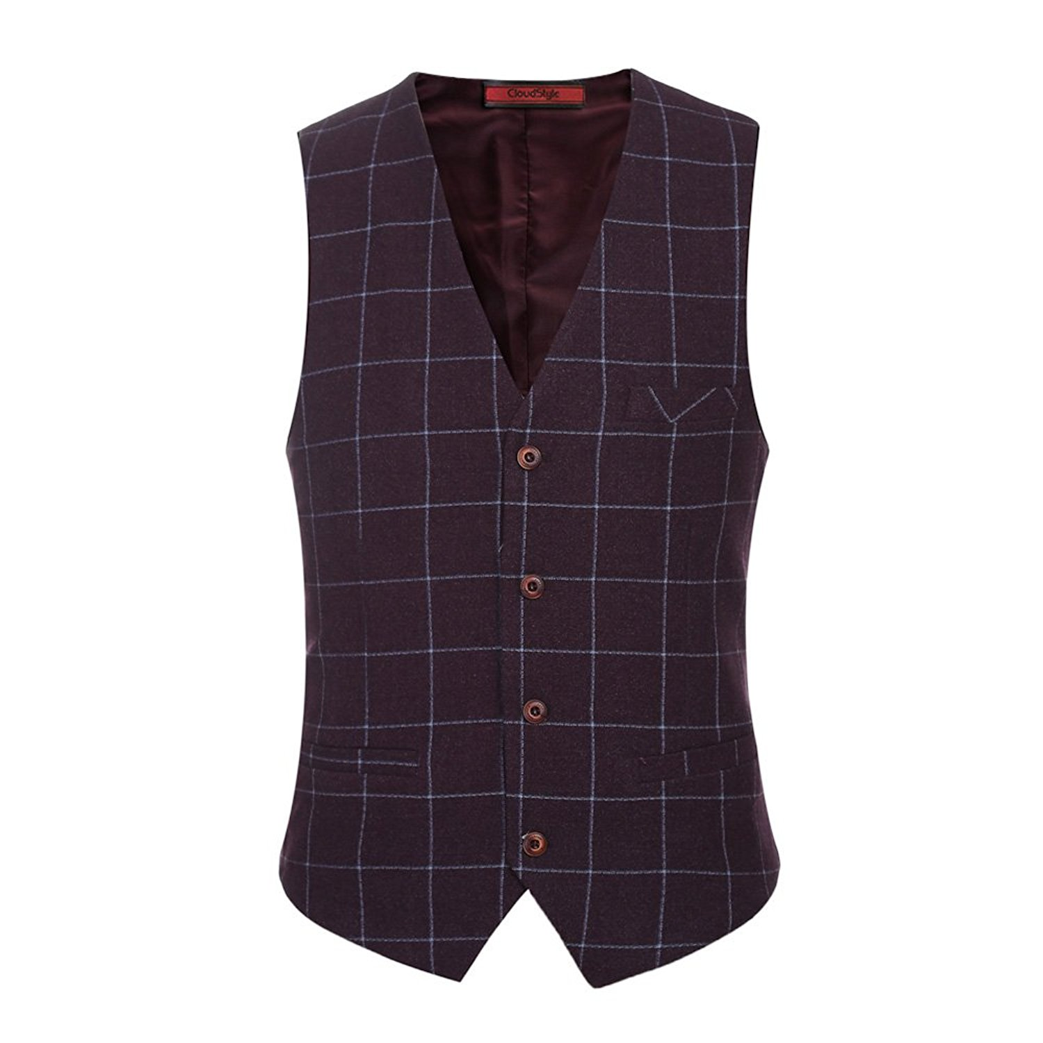 JOKHOO Mens Business Solid Button Knitwear Sweater Vest Sleeveless Knitted Waistcoat