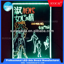 SuoCai Led acrylic signage with flasing message for advertising in shops