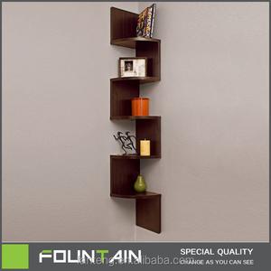 DIY Melamine Veneer Corner Shelf Living Room Decorative Wall Mounted Wood  Corner Shelf