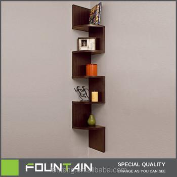 Diy Melamine Veneer Corner Shelf Living Room Decorative Wall Mounted ...