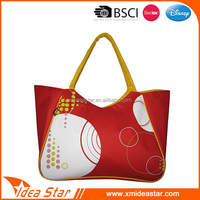 Hot sale trendy full printing promotional women summer tote beach bag