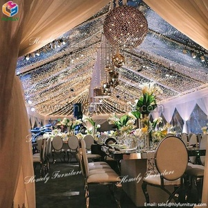Wholesale wedding royal luxury stainless steel dining table designs