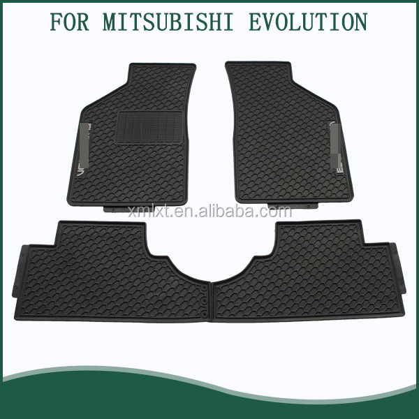 OEM FACTORY ORIGINAL FINAL EDITION FOR EVOLUTION X FLOOR MATS SET OF FOUR, BLACK WITH GREY LOGO