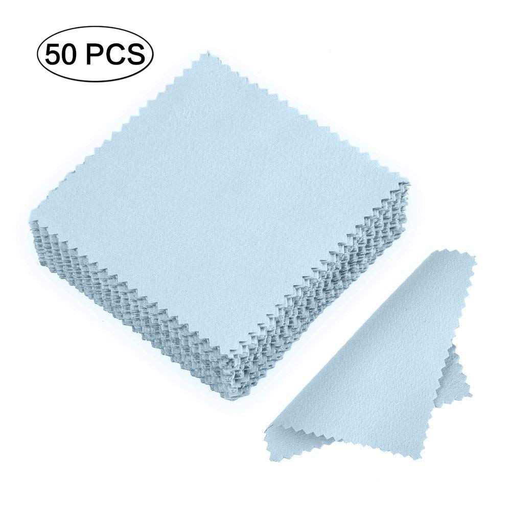Men's Glasses 10 Pcs Glasses Jewelry Polishing Cloth Clean Cleaning For Glasses Platinum Gold And Silver