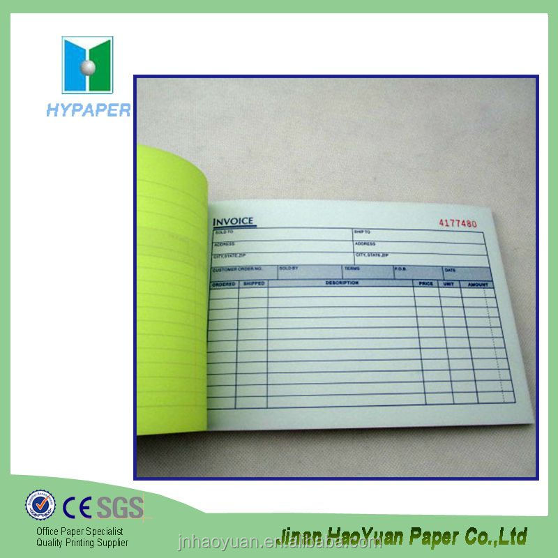 design carbonless replicate copy account book