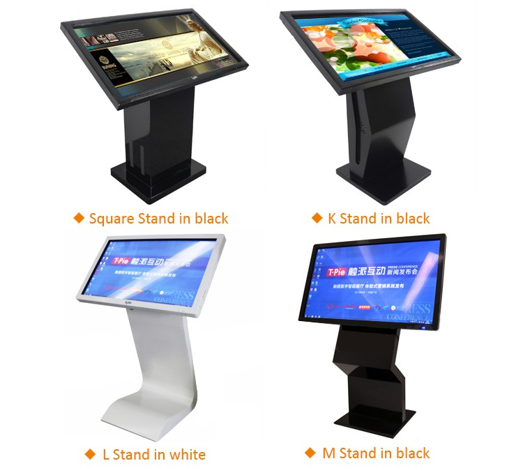 55 inch factory supply digital touch screen signage with network