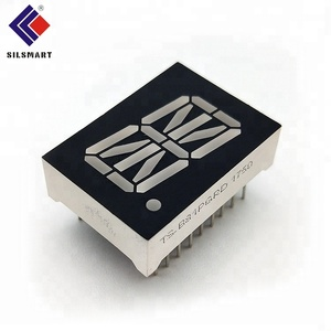 ROHS approved 0.8 inch white color 1 digit 16 segment alphanumeric led display