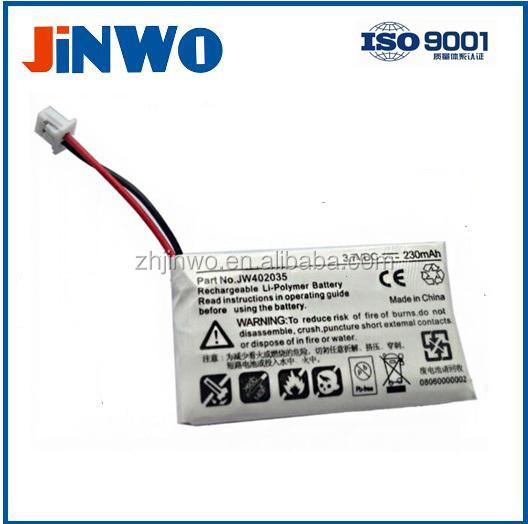 3.7V 230mAh Headset battery for Plantronic CS-50, CS-60, CS55, Bluetooth battery Headset Battery LiPo Battery Plantronics CS50