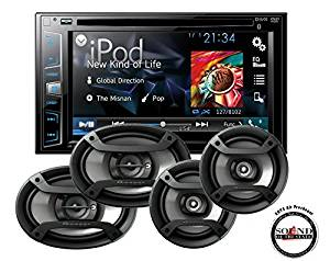 """Pioneer AVH-X2700BS Double Din 6.2"""" Touchscreen DVD CD Receiver with one pair of TS-165P 6.5"""" and one pair of TS-695P 6x9"""" Car Speakers with a FREE SOTS Air Freshener"""