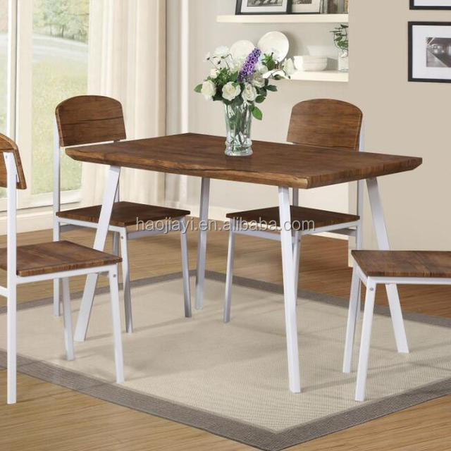 Modern dining table set 1 table with 4 chairs metal leg with mdf top and seat & China Dining Set 1 Table And 4 Chair Wholesale ?? - Alibaba