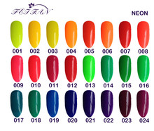 Free shipping 6pcs VEN Modern Neon color UV LED lamp gel 15ml 24 beautiful colors for