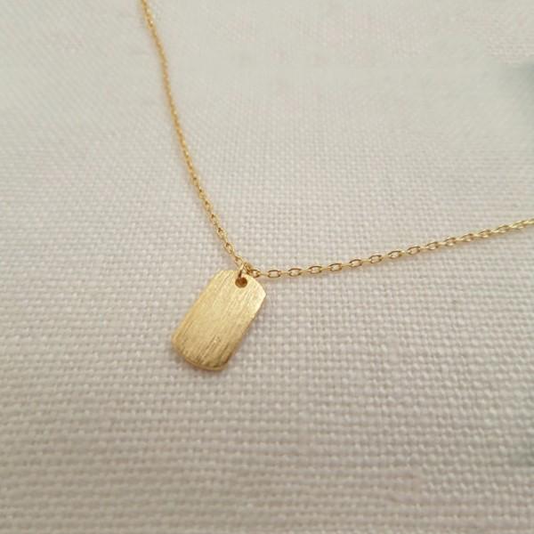 Mini custom initial tag pendant chain jewelry teeny tiny gold dog mini custom initial tag pendant chain jewelry teeny tiny gold dog tag necklaces aloadofball Image collections