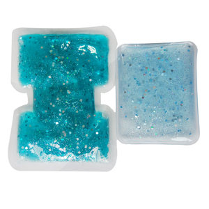 Anti stress fatigue cold and hot gel glitter custom gel hot cold pack