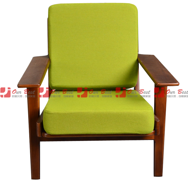 Fashion Fabric Sofa Chair Single Ikea Simple Wooden Lounge Factory Outlets In Price On Alibaba