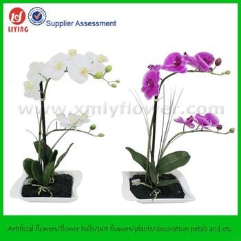 24\u0026quot; Fake Potted FlowerOrchid Pot FlowerReal Touch Orchid Arrangement  sc 1 st  Alibaba & 24\